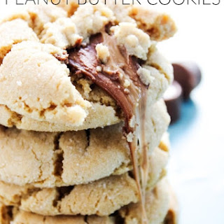 Rolo Stuffed Peanut Butter Cookies.