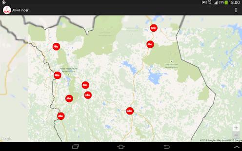 Finnish ALKO finder - náhled