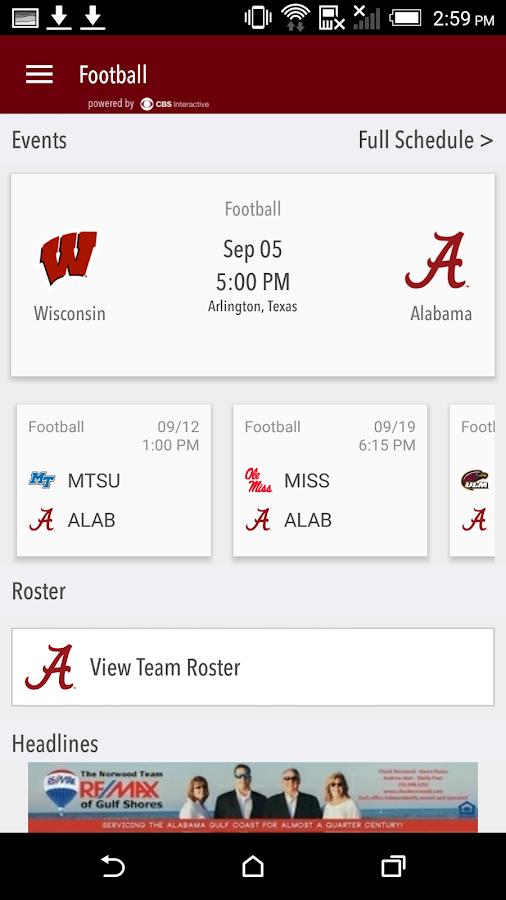Alabama Gameday LIVE- screenshot