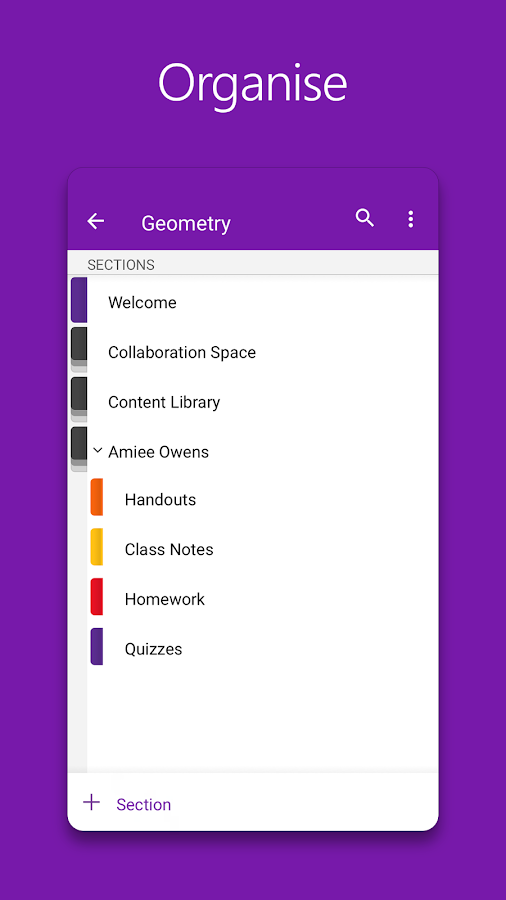 OneNote- screenshot