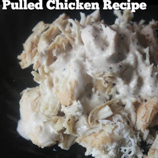 Crock Pot White Sauce Pulled Chicken.