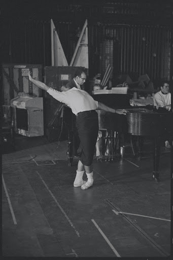 Jerome Robbins in rehearsal for the stage production West Side Story