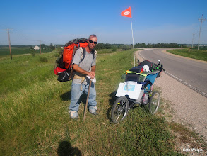 Photo: Shane was walking from Kansas to somewhere in Canada...