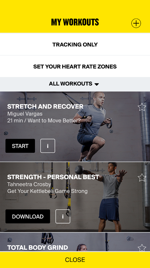 Trx android apps on google play with the trx app you get real time in ear audio coaching that helps reach your fitness fandeluxe Image collections