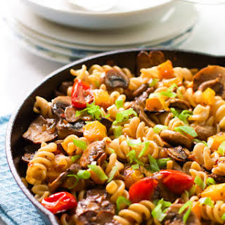 Fusilli with Mushroom and Roasted Butternut Squash.