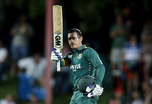 Quinton de Kock says he has thrown all his superstitions out the window and is keeping things simple. Picture: REUTERS