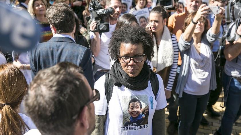 Ana Julia Quezada, durante la concentración del viernes por Gabriel.