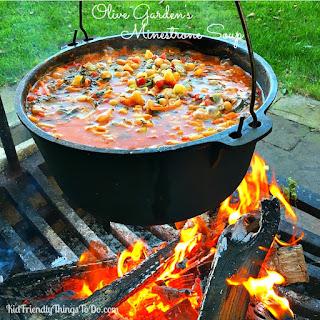Olive Garden's Copycat Minestrone Soup.
