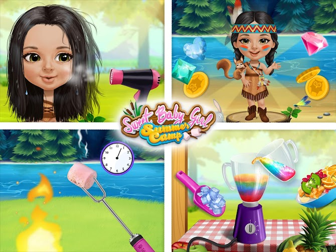 Sweet Baby Girl Summer Camp - Kids Camping Club Android 14