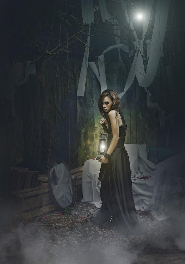 The dark Ghotic-Camelia Qrei. by Mdnoh Mnj - Digital Art People