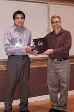 Photo: Thai-Truong Du Tran accepting the Ross N. Tucker Memorial Award.