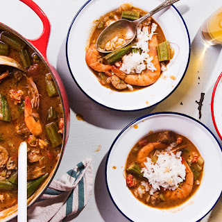 Seafood and Sausage Gumbo.