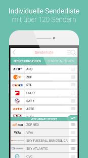 HÖRZU TV Programm als TV-App - náhled