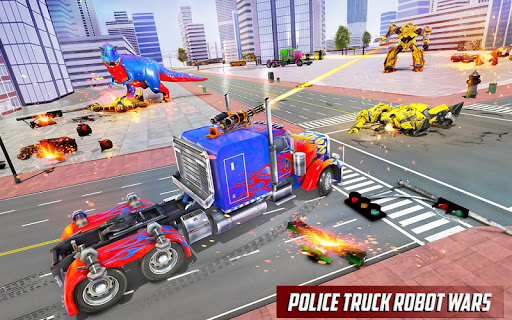 Police Truck Robot Game – Transforming Robot Games 1.0.4 screenshots 1