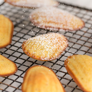 Pistachio and Clementine Madeleines