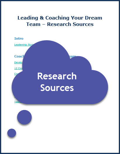 Leading and Coaching Your Dream Team - Research Sources
