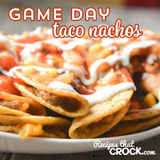 Crock Pot Game Day Taco Nachos
