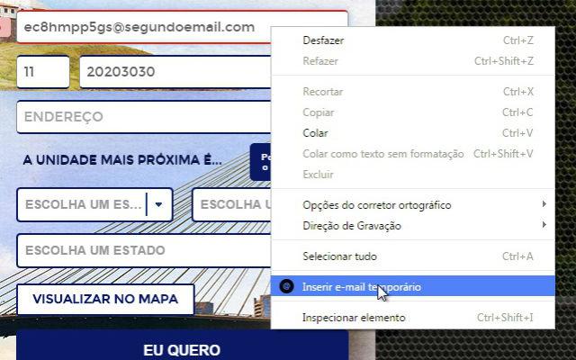 Extensão SegundoEmail.com