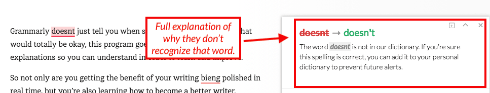 grammarly review example