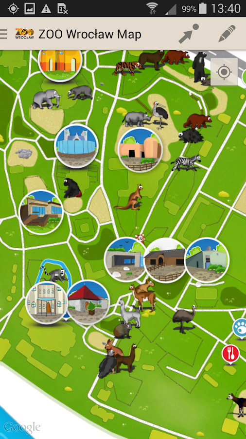 Zoo Wrocław Map- screenshot