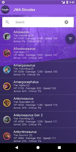 Download JWA Dinodex APK latest version App by Xeldar for