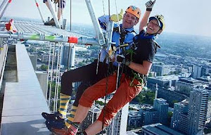 The Master first to descend in the LM's Abseil Challenge 5 July 2019