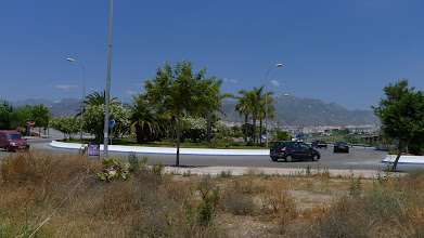 Photo: Roundabout at the entrance to the town crossings of rio Chillar