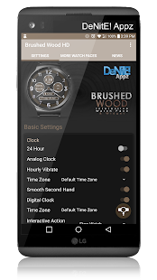Brushed Wood HD Watch Face - náhled
