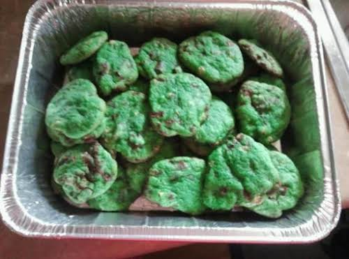 """Mint Chocolate Chip Cookies """"I made these cookies for Thanksgiving, they where..."""
