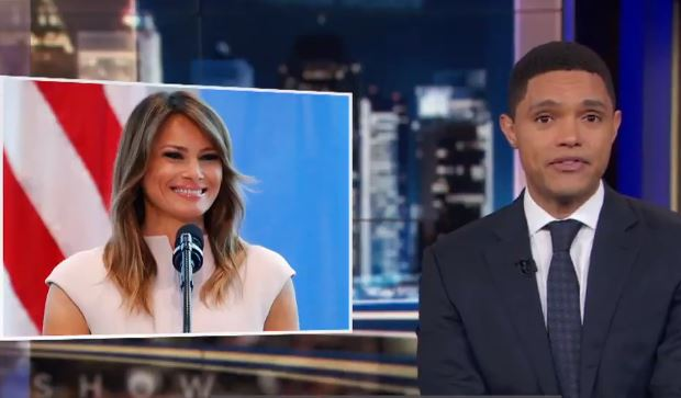 Trevor Noah shares his thoughts on Melania Trump's visit to African nations this week.