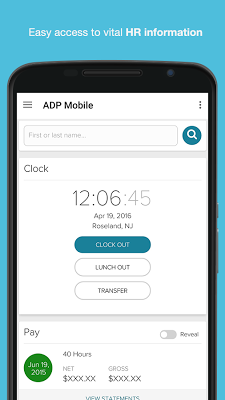 ADP Mobile Solutions - screenshot
