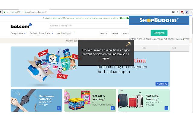Shopbuddies.ch Cashback-Melder