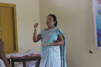 Photo: Mrs Chayarani Devi, state award winning teacher from Agia praising the concept of home library