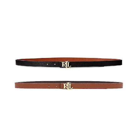 Reversible Leather Belt Skinny, Classic Pebble: Black/Tan