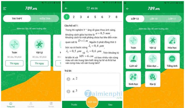 Phần mềm 789.vn còn giúp người dùng nâng cao được chất lượng học tập và thi cử