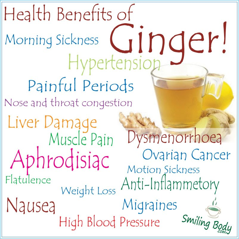 Health Benefits Of Ginger Smiling Body