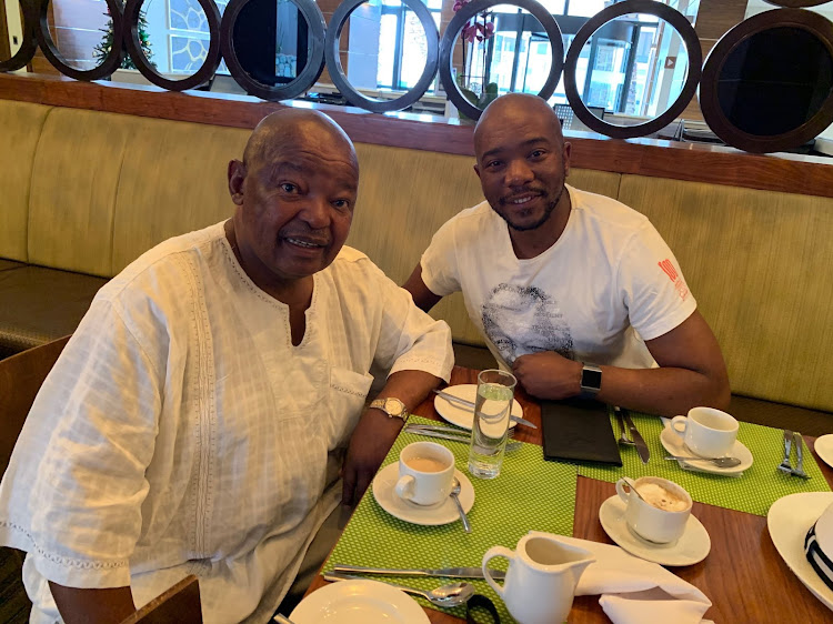 COPE leader Mosiuoa Lekota (left) and the leader of the DA, Mmusi Maimane, met over coffee recently to discuss the current political landscape and coalition agreements.
