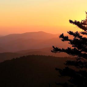 Sunset  by Karen Carter Goforth - Landscapes Sunsets & Sunrises ( mountains, sunset, landscape,  )