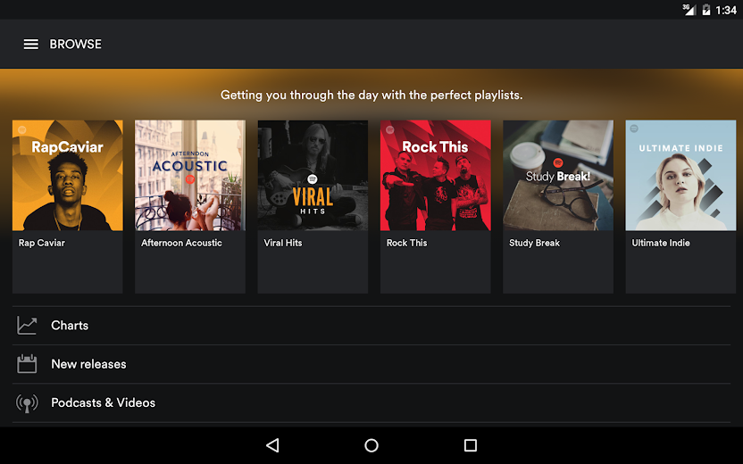 Screenshot 8 for Spotify's Android app'