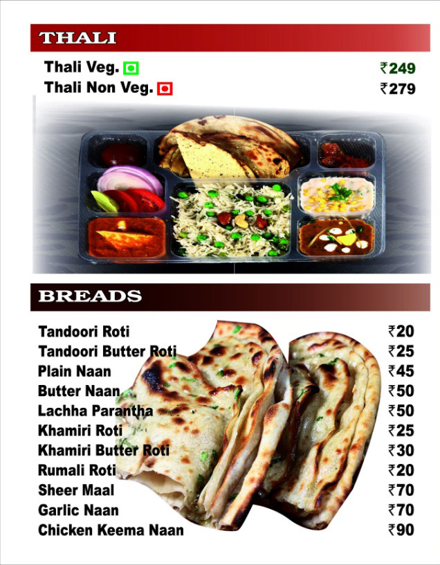 Nazeer Foods menu 3
