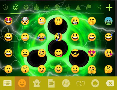 Fidget Spinner Neon Keyboard Theme? image   8