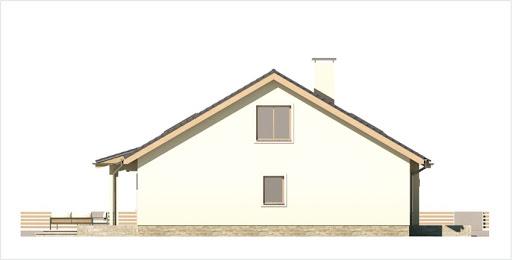 Małgosia wersja A bez garażu, parterowa, z wykuszem - Elewacja lewa
