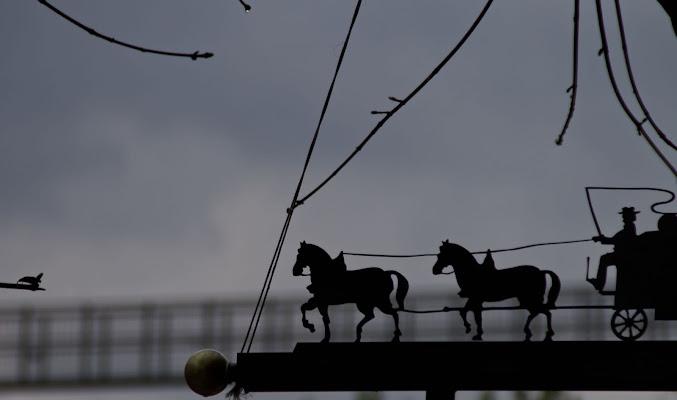 Insegna di metallo sul ponte sospeso di Annalis©Photo