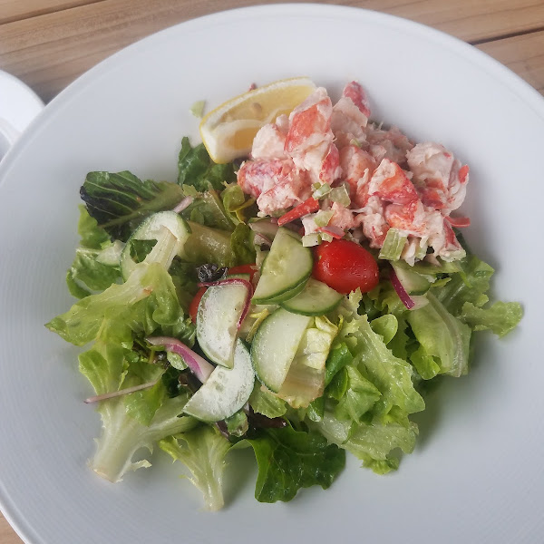 House salad with lobster salad