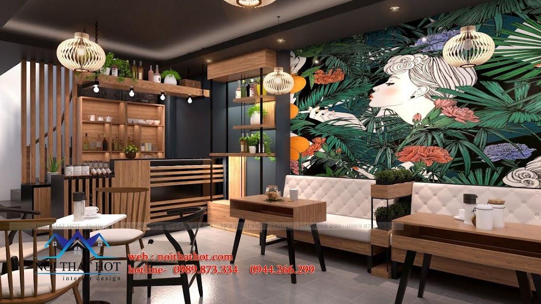 thiết kế quán cafe 40m2 5