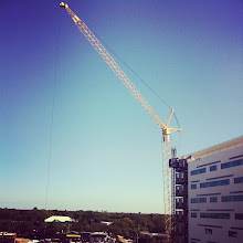 Photo: Snuck to a roof on my lunch break to snap some pics! Check out the Sims Crane - working hard to complete our new patient tower in 2013!