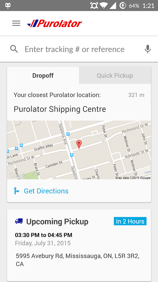 Purolator- screenshot