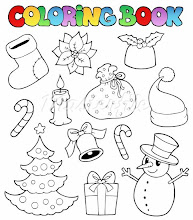 Photo: 400-05718976© clairevModel Release: NoProperty Release: NoColoring book Christmas images 1 - vector illustration.
