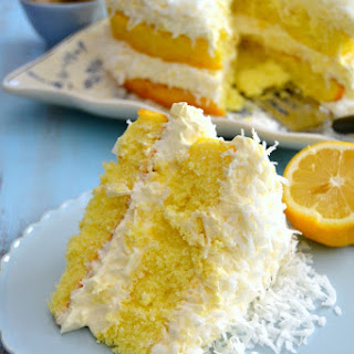 Guiltless Lemon Coconut Cake.