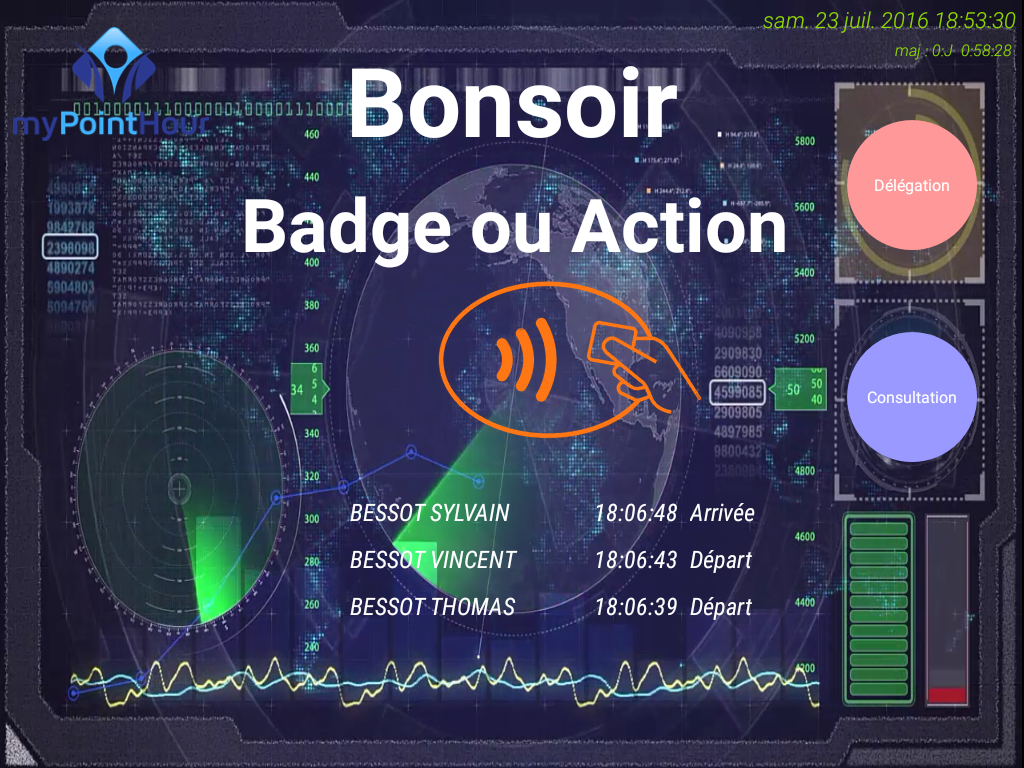Badgeuse pointeuse PointHour- screenshot